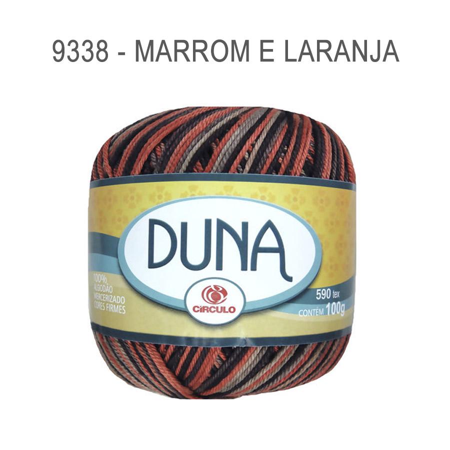 Linha Duna 100g Multicolor - Circulo - 9338 - Marrom e Laranja