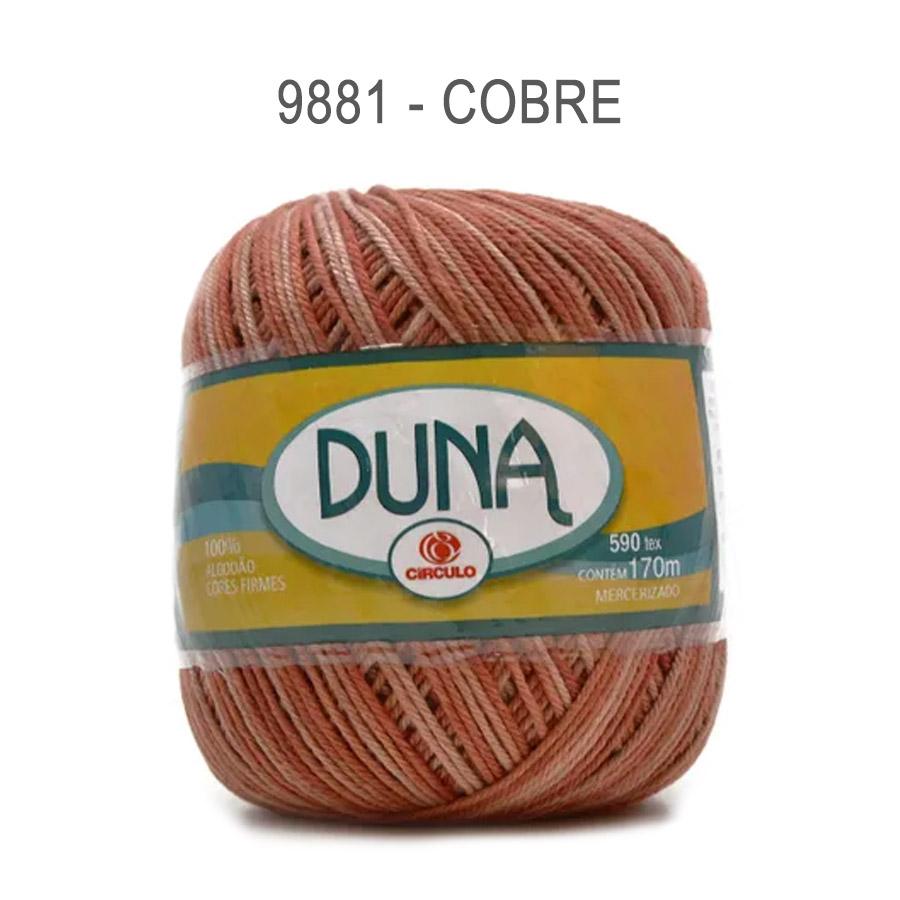 Linha Duna 100g Multicolor - Circulo - 9881 - Cobre
