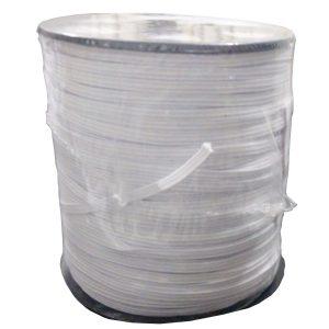 Elástico Branco Nº3 3.5mm c/ 200m Chato - Damenny