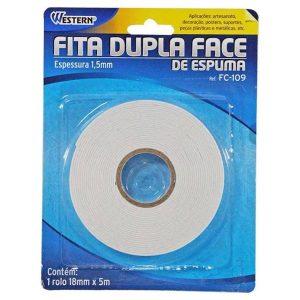 Fita Dupla Face de Espuma 18mm X 5m - Western