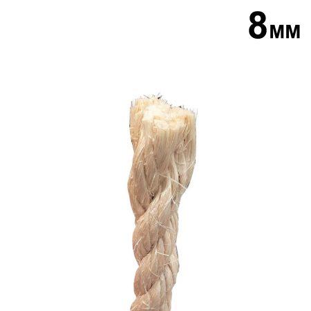 Corda de Sisal 8mm c/ 1m - CLC Cordas