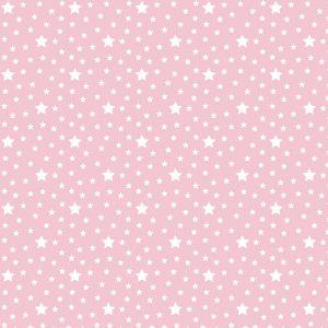Tecido Tricoline Estampado 100% Algodão - Estrelas Rosa 1229 V081 Peripan