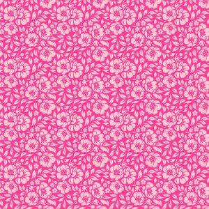 Tecido Tricoline Estampado 100% Algodão - Floral Pink 1177 V009 Peripan