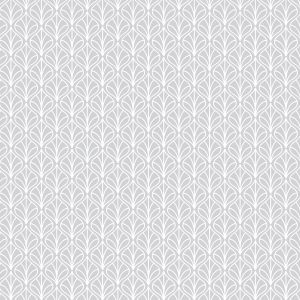 Tecido Tricoline Estampado 100% Algodão - Folhas Cinza 1232 V091 Peripan