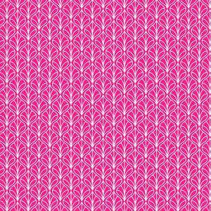 Tecido Tricoline Estampado 100% Algodão - Folhas Pink 1232 V108 Peripan