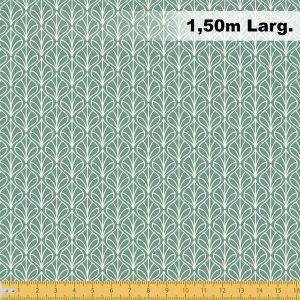 Tecido Tricoline Estampado 100% Algodão - Folhas Verde folha 1232 V129 Peripan
