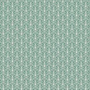 Tecido Tricoline Estampado 100% Algodão - Folhas Verde 1232 V129 Peripan