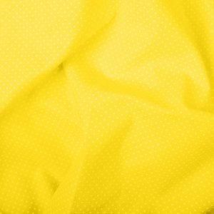 Tecido Tricoline Estampado 100% Algodão Poá Amarelo e Branco 1002 V134 Peripan