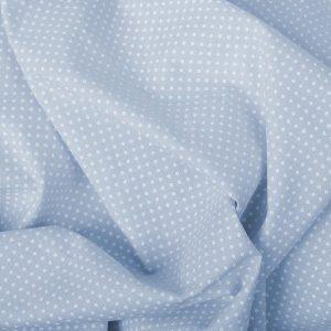 Tecido Tricoline Estampado 100% Algodão Poá Azul e Branco 1002 v082 peripan