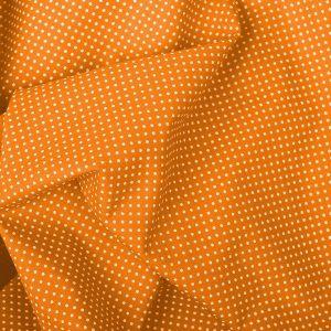 Tecido Tricoline Estampado 100% Algodão Poá Laranja e Branco 1002 V603 Peripan