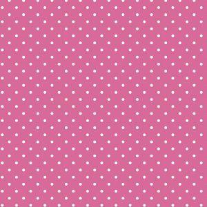 Tecido Tricoline Estampado 100% Algodão Poá Pink e Branco 1002 V108 Peripan