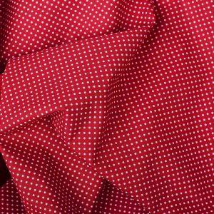 Tecido Tricoline Estampado 100% Algodão Vermelho e Branco 1002 V106 Peripan