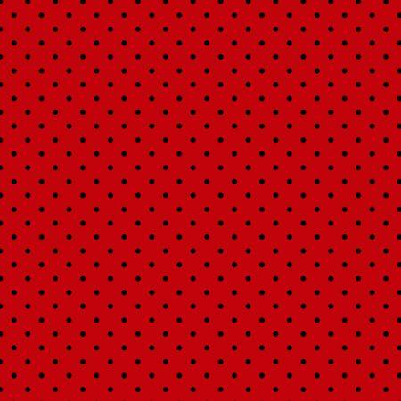 Tecido Tricoline Estampado 100% Algodão Poá Vermelho e Preto 1002 V011 Peripan