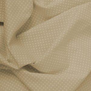 Tecido Tricoline Estampado 100% Algodão Poá Camurça e Branco 1002 V093 Peripan